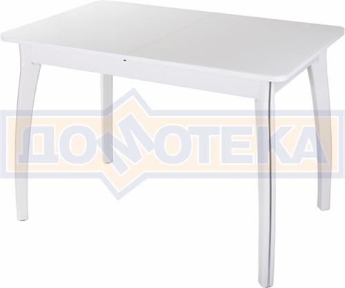 Стол со стеклом - Танго ПР БЛ ст-БЛ 07 ВП БЛ ,белый - фото 6351