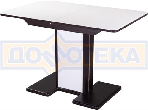 Стол со стеклом - Танго ПР ВН ст-БЛ 05 ВН/БЛ ,венге - фото 6363