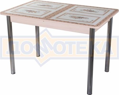 Стол со стеклом - Танго ПР МД ст-72 02 ,молочный дуб - фото 6373