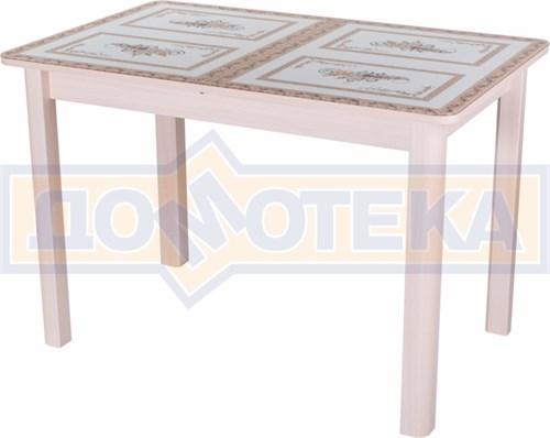 Стол со стеклом - Танго ПР МД ст-72 04 МД ,молочный дуб - фото 6374