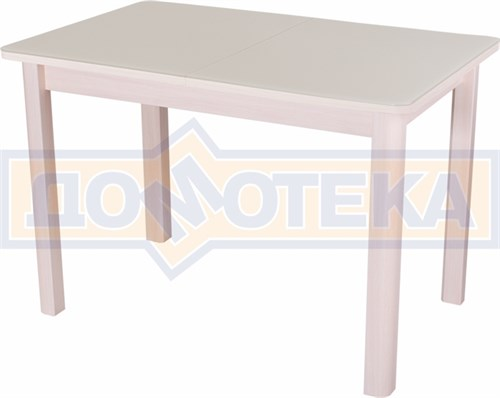 Стол со стеклом - Танго ПР МД ст-КР 04 МД ,молочный дуб - фото 6376