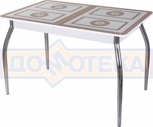 Стол со стеклом - Танго ПР-1 БЛ ст-71 01 ,белый - фото 6377