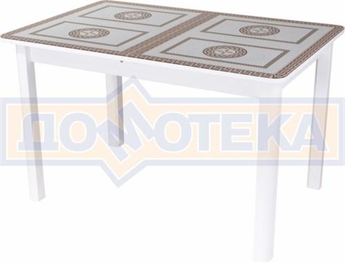Стол со стеклом - Танго ПР-1 БЛ ст-71 04 БЛ ,белый - фото 6379
