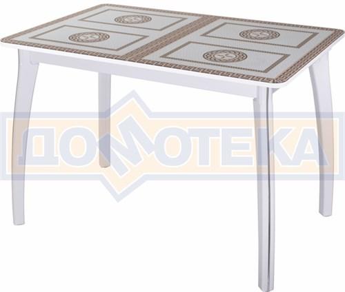 Стол со стеклом - Танго ПР-1 БЛ ст-71 07 ВП БЛ ,белый - фото 6380