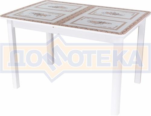 Стол со стеклом - Танго ПР-1 БЛ ст-72 04 БЛ ,белый - фото 6383