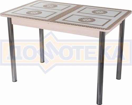 Стол со стеклом - Танго ПР-1 МД ст-71 02 ,молочный дуб - фото 6407