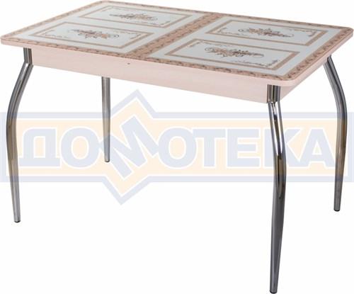 Стол со стеклом - Танго ПР-1 МД ст-72 01 ,молочный дуб - фото 6409