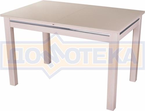 Стол со стеклом - Вальс МД ст-КР 08 МД, молочный дуб - фото 6424
