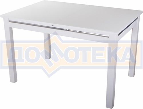 Стол со стеклом - Вальс-1 БЛ ст-БЛ 08 БЛ, белый - фото 6432