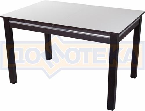 Стол со стеклом - Вальс-1 ВН ст-БЛ 08 ВН, венге - фото 6433