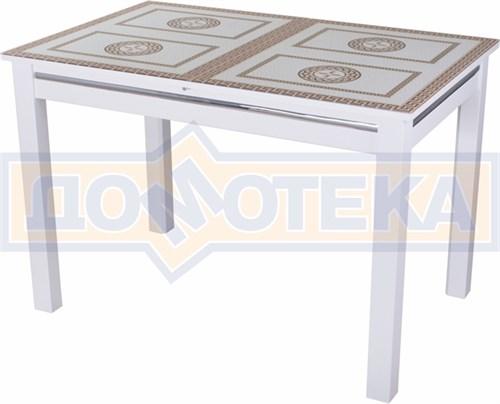 Стол со стеклом - Вальс-1 БЛ ст-71 08 БЛ, белый - фото 6436