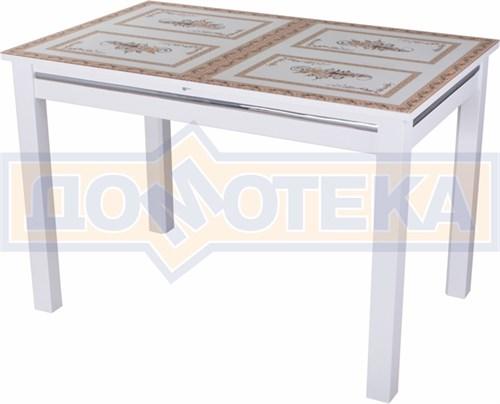 Стол со стеклом - Вальс-1 БЛ ст-72 08 БЛ, белый - фото 6439