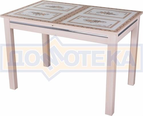 Стол со стеклом - Вальс-1 МД ст-72 08 МД, молочный дуб - фото 6440