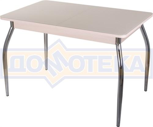 Стол со стеклом - Танго ПР МД ст-КР 01 ,молочный дуб - фото 6508