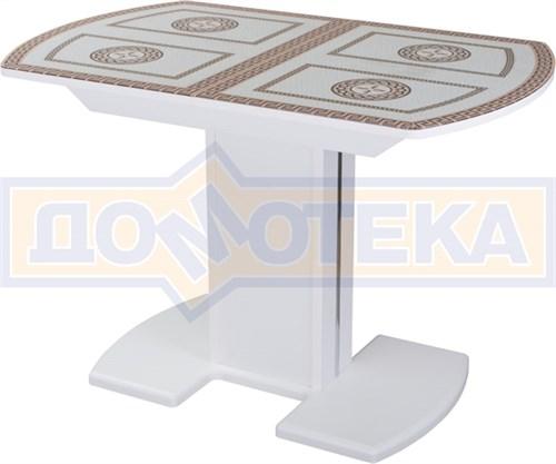 Стол со стеклом - Танго ПО БЛ ст-71 05 БЛ/БЛ ,белый - фото 6509