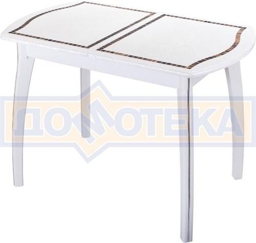 Стол кухонный с мозаикой Толедо ПО МЗ БС 07 ВП БЛ - фото 6707