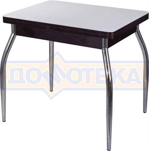 Стол кухонный Чинзано М-2 ВН ст-БЛ 01 венге, стекло белое - фото 6726