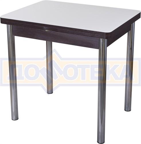 Стол кухонный Чинзано М-2 ВН ст-БЛ 02 венге, стекло белое - фото 6728