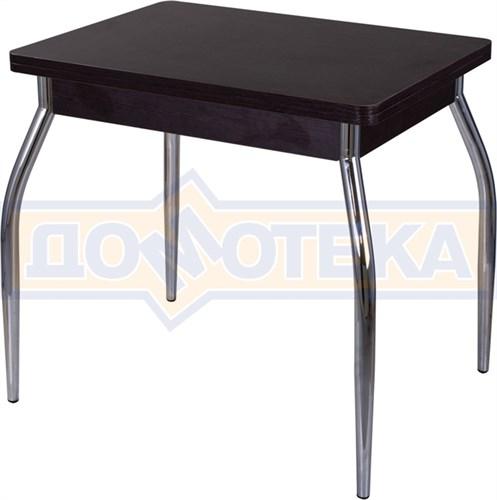 Стол кухонный Дрезден М-2 ВН 01 венге, ножки хром - фото 6735