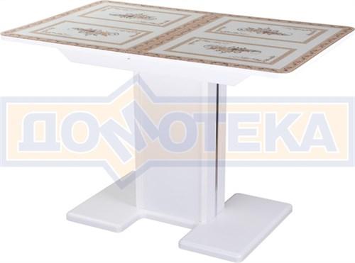 Стол со стеклом - Танго ПР БЛ ст-72 05 БЛ/БЛ  ,белый - фото 6743