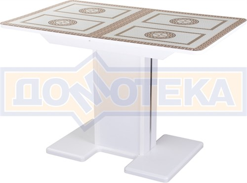 Стол со стеклом - Танго ПР БЛ ст-71 05 БЛ/БЛ ,белый - фото 6744