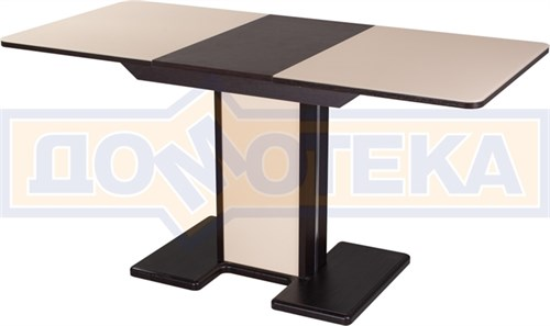 Стол со стеклом - Танго ПР ВН ст-КР 05 ВН/КР  ,венге - фото 6750