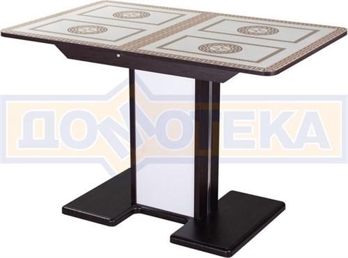 Стол со стеклом - Танго ПР-1 ВН ст-71 05-1 ВН/БЛ ,венге - фото 6751
