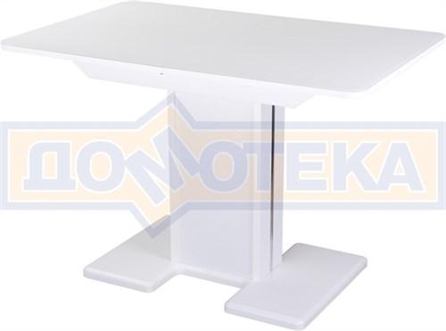 Стол со стеклом - Танго ПР-1 БЛ ст-БЛ 05-1 БЛ/БЛ ,белый - фото 6754