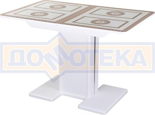 Стол со стеклом - Танго ПР-1 БЛ ст-71 05-1 БЛ/БЛ ,белый - фото 6756