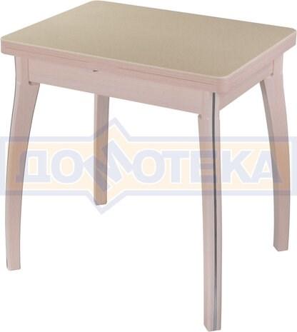 Стол кухонный Реал М-2 КМ 06 МД 07 ВП МД, молочный дуб, камень песочного цвета - фото 6814
