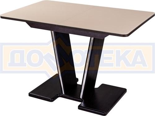 Стол кухонный Танго ПР ВН ст-КР 03 ВН, венге, стекло кремового цвета - фото 6821