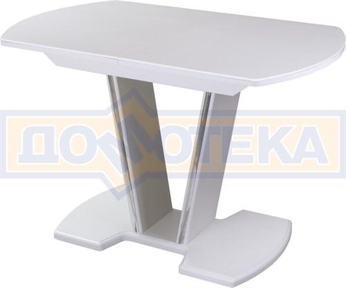 Стол обеденный  Румба ПО КМ 04 БЛ 03 БЛ, белый, белый камень - фото 6824