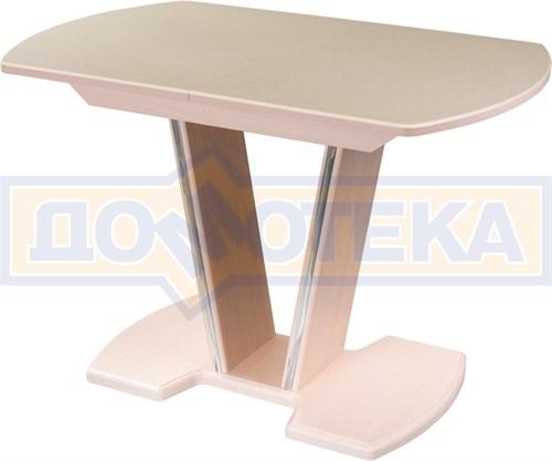 Стол обеденный  Румба ПО КМ 06 МД 03 МД, молочный дуб, камень песочного цвета - фото 6827