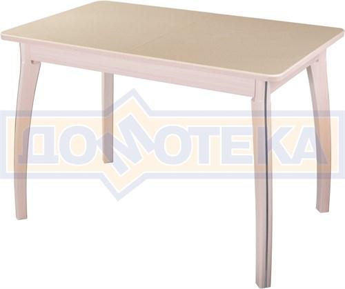 Стол обеденный  Румба ПР-1 КМ 06 МД 07 ВП МД, молочный дуб, камень песочного цвета - фото 6835