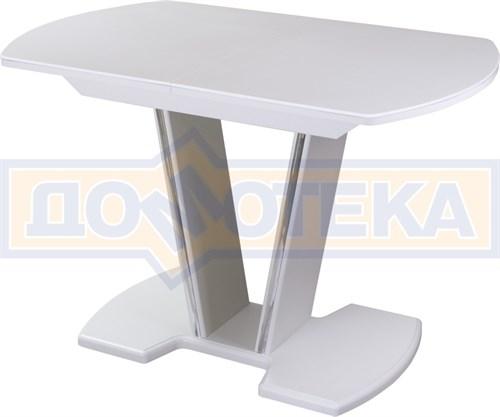 Стол с камнем - Румба ПО-1 КМ 04 БЛ 03-1 БЛ, белый, белый камень - фото 6910