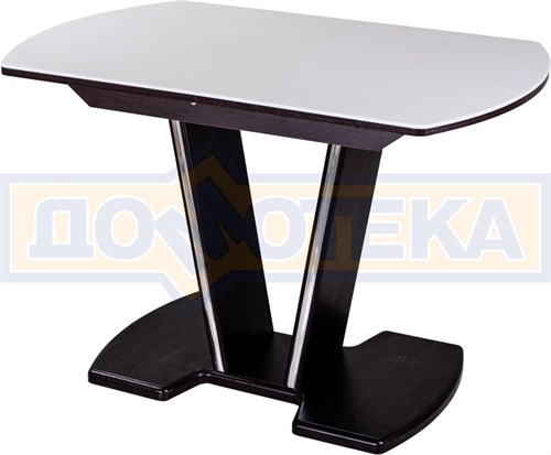 Стол с камнем - Румба ПО-1 КМ 04 ВН 03-1 ВН, венге, белый камень - фото 6911
