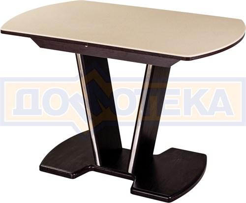 Стол с камнем - Румба ПО-1 КМ 06 ВН 03-1 ВН, венге, камень песочного цвета - фото 6912