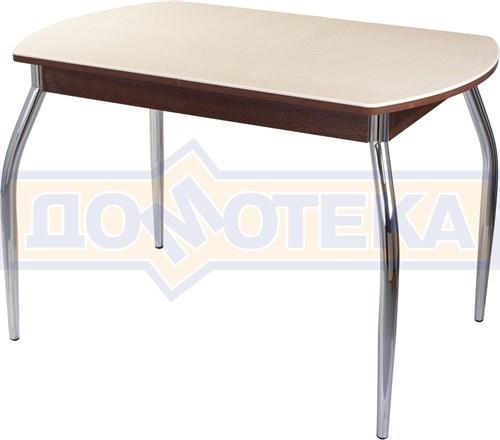 Столы с камнем Румба ПО КМ 06 ОР 01, орех/камень песочного цвета - фото 6985