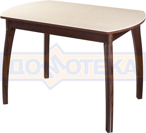 Столы с камнем Румба ПО КМ 06 ОР 07 ВП ОР, орех/камень песочного цвета - фото 6987
