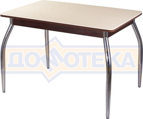 Столы с камнем Румба ПР КМ 06 ОР 01, орех/камень песочного цвета - фото 6988