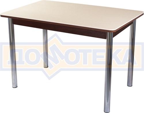 Столы с камнем Румба ПР КМ 06 ОР 02, орех/камень песочного цвета - фото 6989