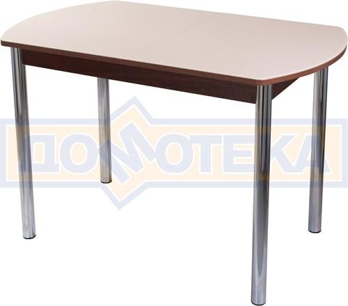 Столы со стеклом Танго ПО ОР ст-КР 02, орех/закаленное стекло кремового цвета - фото 6992