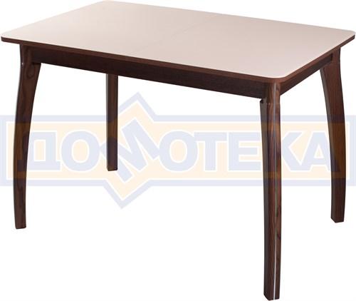 Столы со стеклом Танго ПР ОР ст-КР 07 ВП ОР, орех/закаленное стекло кремового цвета - фото 6996