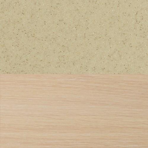 Стол обеденный  Румба ПР-1 КМ 06 МД 07 ВП МД, молочный дуб, камень песочного цвета - фото 7155