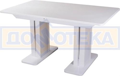 Обеденный стол с камнем Румба ПР-2 КМ 04 БЛ 05-2 БЛ/БЛ КМ 04, белый/камень белого цвета - фото 7210