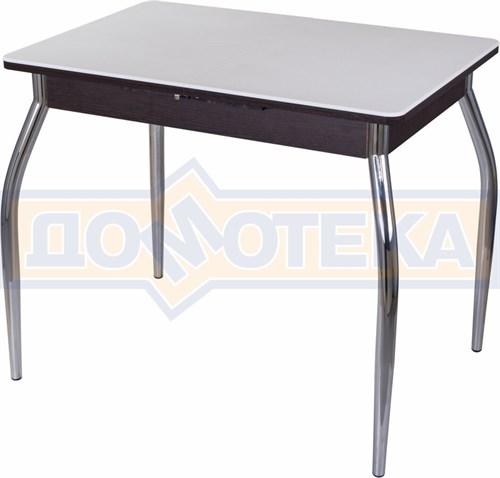 Стол с камнем Румба ПР-М 04 ВН 01, венге/камень белого цвета - фото 7216