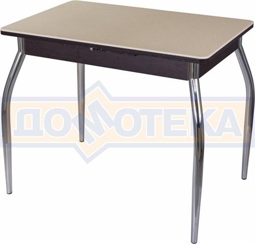 Стол с камнем Румба ПР-М 06 ВН 01, венге/камень песочного цвета - фото 7218