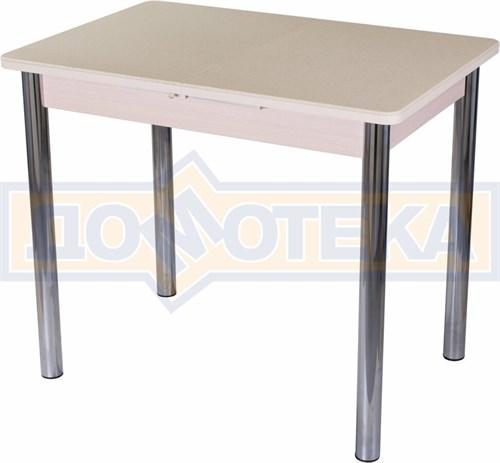 Стол с камнем Румба ПР-М 06 МД 02, молочный дуб/камень песочного цвета - фото 7223