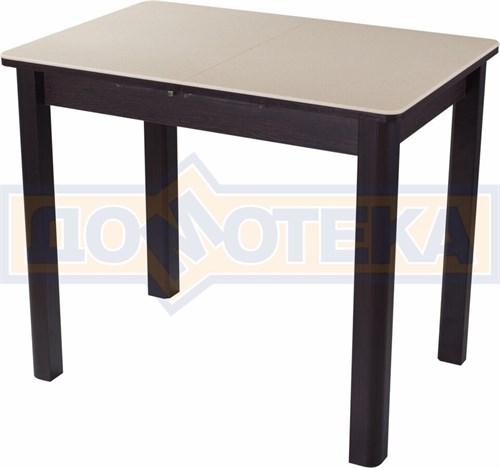 Стол с камнем Румба ПР-М 06 ВН 04 ВН, венге/камень песочного цвета - фото 7226