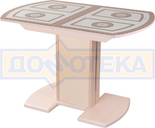 Стол кухонный Танго ПО МД ст-71 05 МД/КР, молочный дуб, греческий орнамент - фото 7266